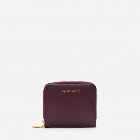 Prune Basic Square Wallet   CHARLES & KEITH
