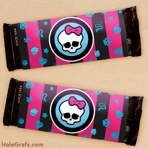 Click here to download a FREE Printable Monster High Candy Bar Wrapper template!