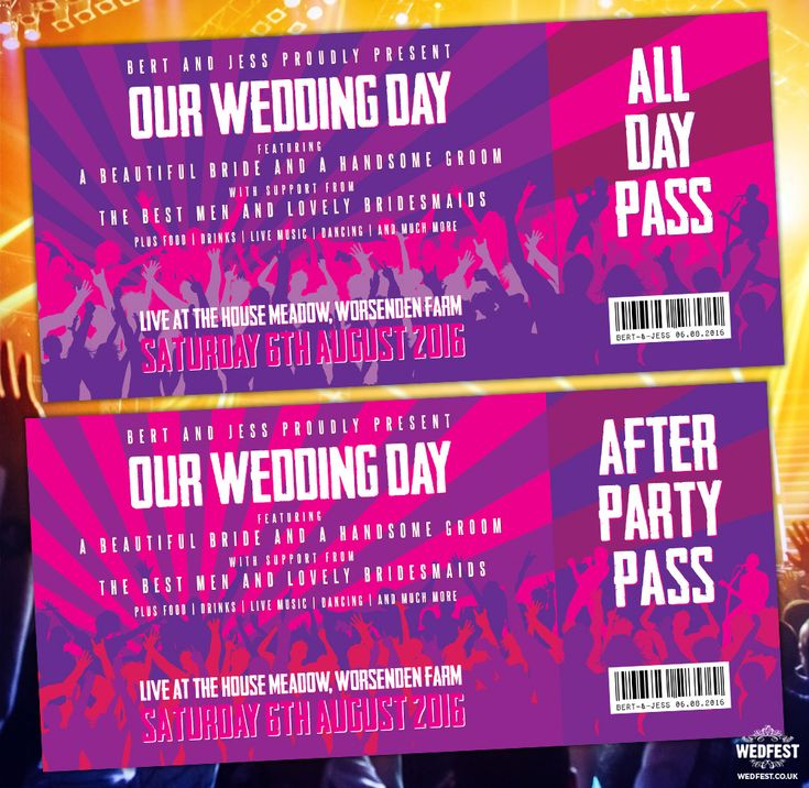 live music concert wedding invites wedfest http://www.wedfest.co/concert-ticket-invitations/