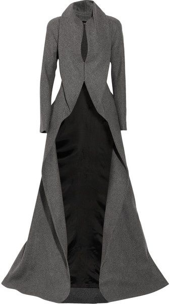 Draping Wool and Cashmere-blend Coat @Jourdan Goodale-Walling