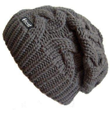 Frost Hats Winter Hat for Women CHARCOAL Slouchy Beanie Cable Hat Knitted Winter Hat Frost Hats One Size Charcoal:Amazon:Clothing
