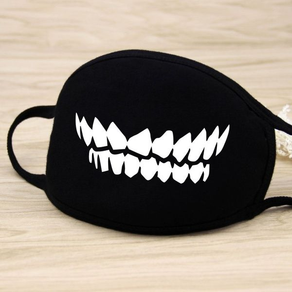 New Women Men Cotton Face Masks Pattern Solid Black Mask Half Face Mouth Muffle