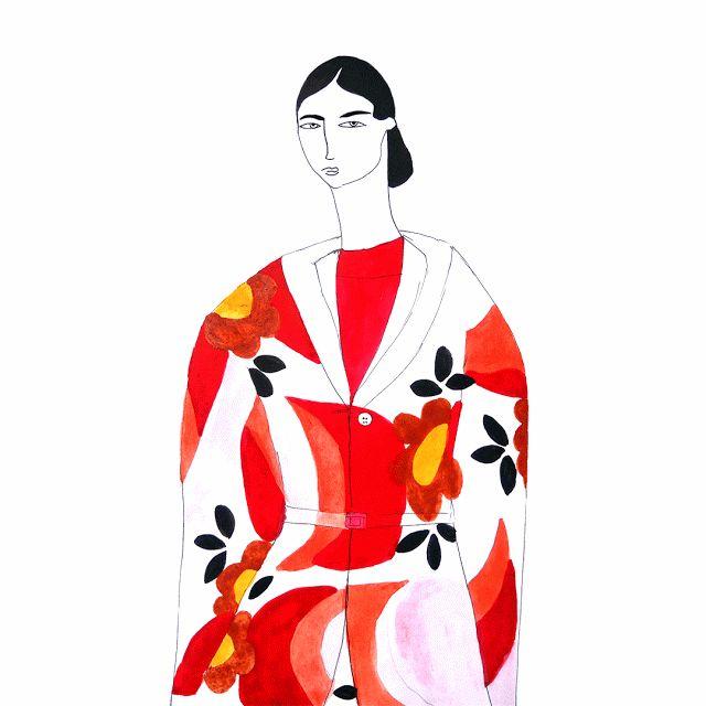 Aisyah Amiru | an illustrated diary: 100 Girls Painting Series: Girl No. 42 in Miu Miu