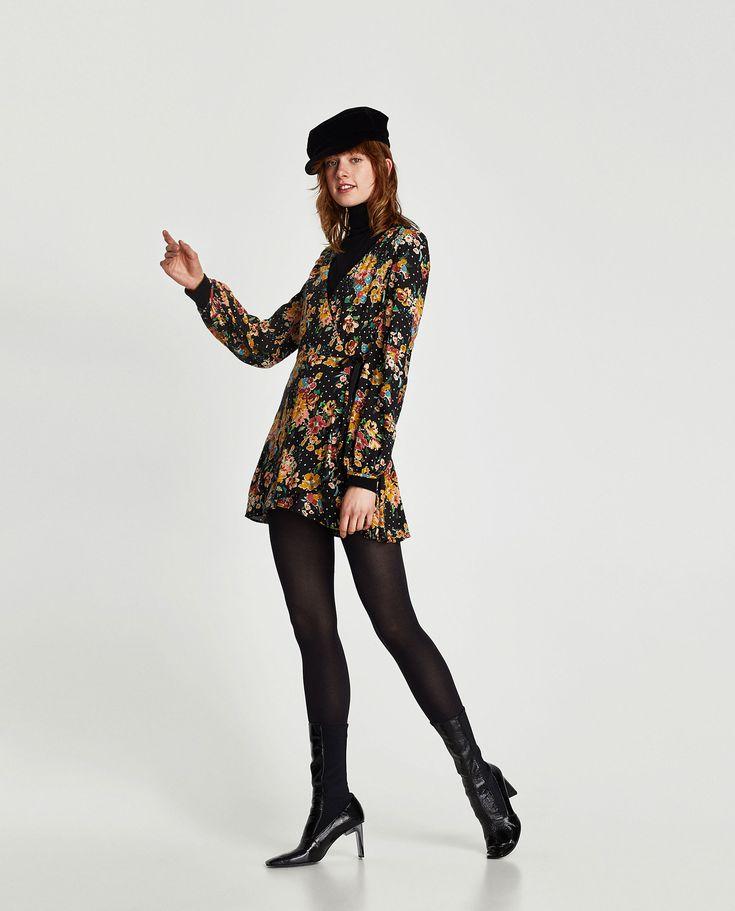 ZARA - WOMAN - JUMPSUIT DRESS WITH FLORAL PRINT