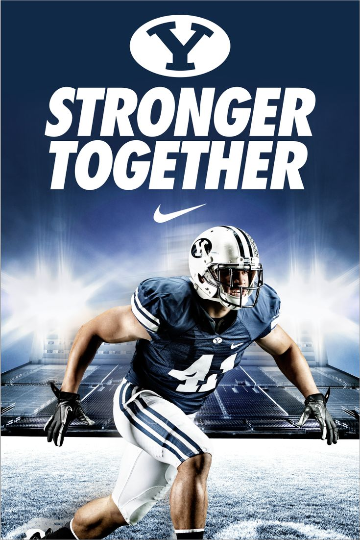 """Stronger Together - BYU Football. Design by Dave Broberg  - MormonFavorites.com  """"I cannot believe how many LDS resources I found... It's about time someone thought of this!""""   - MormonFavorites.com"""