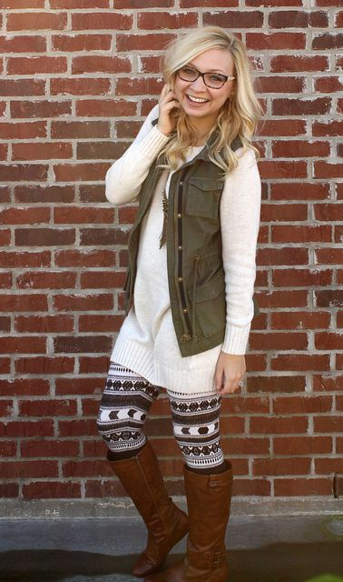 brave outfits with patterned leggings clothing