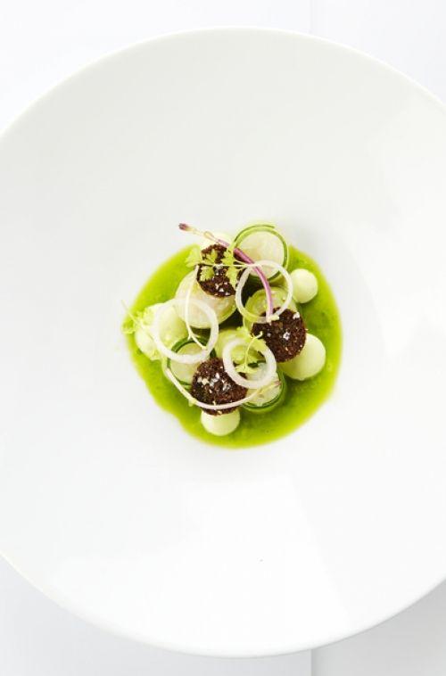 Tartaar van langoustine met komkommer en daslook