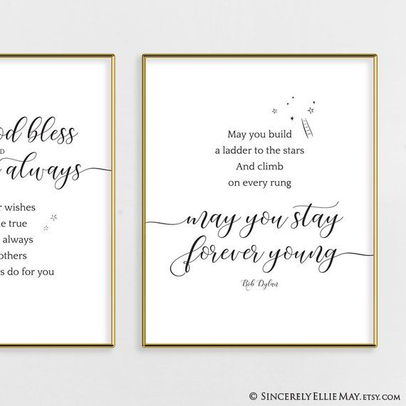 Bob Dylan Poster Print Song Lyrics Art May You Stay Forever