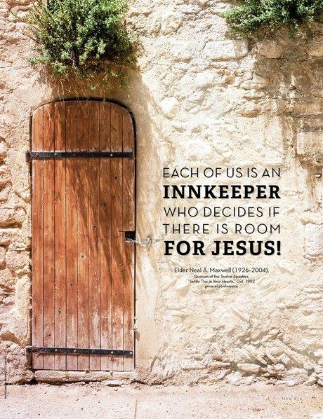"""Poster: Room for Jesus,"" New Era, December 2017 - new-era"