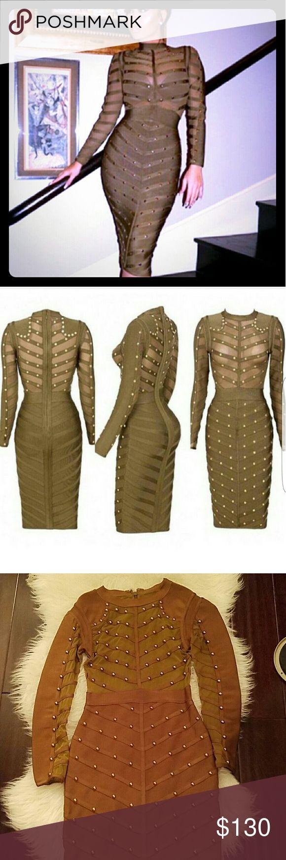 Olive green bandage dress Bandage dress / Worn once Dresses