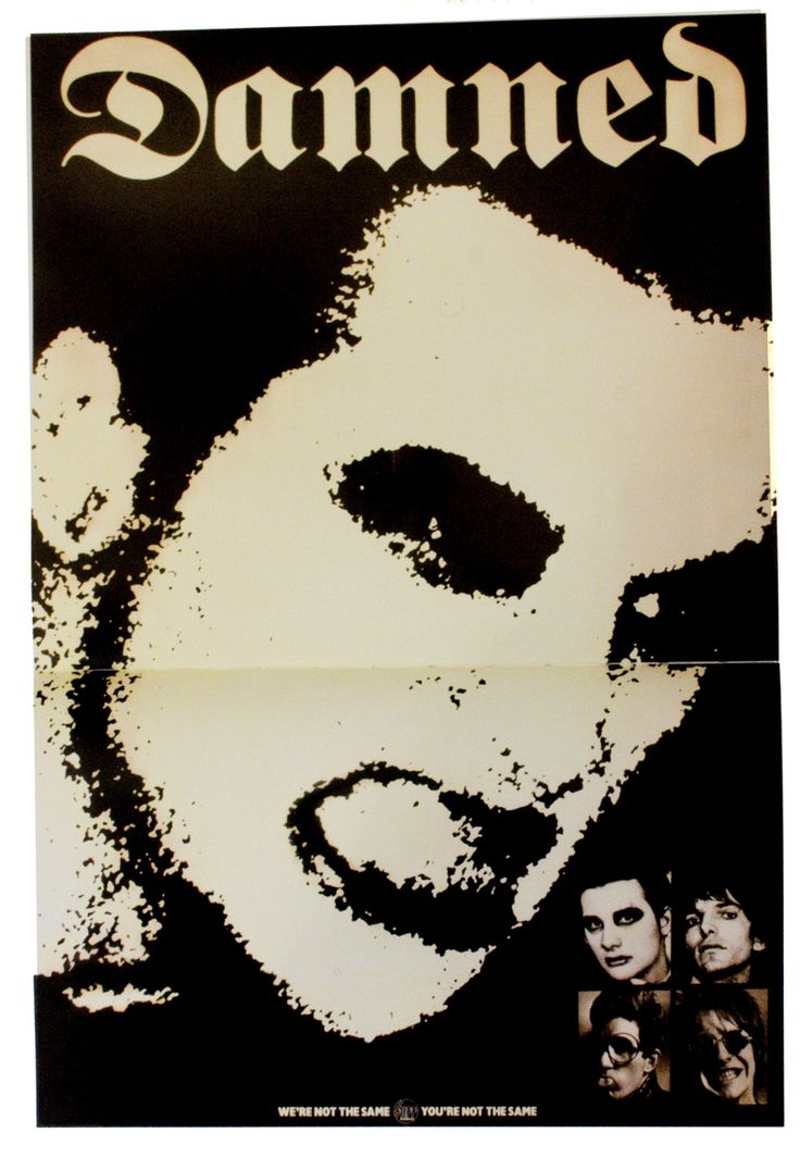 The Damned, promo poster issued by Stiff Records,design byBarney Bubbles, 1977