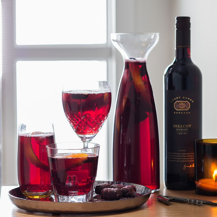 The new Haigh's 2016 Christmas Mulled Wine chocolate has inspired us to create this delicious Sangria! Perfect for a balmy summer Christmas celebration. Mix together Grant Burge Merlot, star anise, freshly squeezed orange juice, a touch of brandy, a little caster sugar dissolved in mineral water and a cinnamon stick, plus lots of ice. Enjoy!