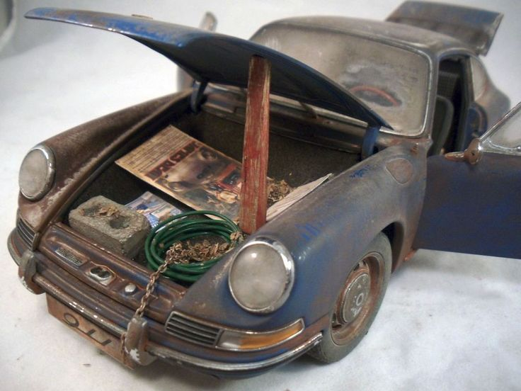 Porsche 1964 911 Coupe Barn Find Custom Weathered Unrestored AUTOart 1 18 FindsModel CarCar