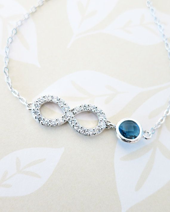 Infinity - Crystal Infinity Bracelet with Montana Crystal Bracelet, Love, Forever, bridesmaid bracelet, something blue, by GlitzAndLove, www.glitzandlove.com