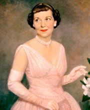 Mrs. Eisenhower's bangs and stylish fashion became her trademarks. First Lady - Mamie Eisenhower | C-SPAN First Ladies: Influence & Image