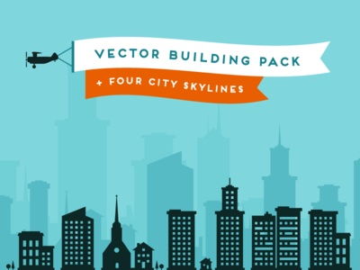 Lil Buildings vector silhouettes