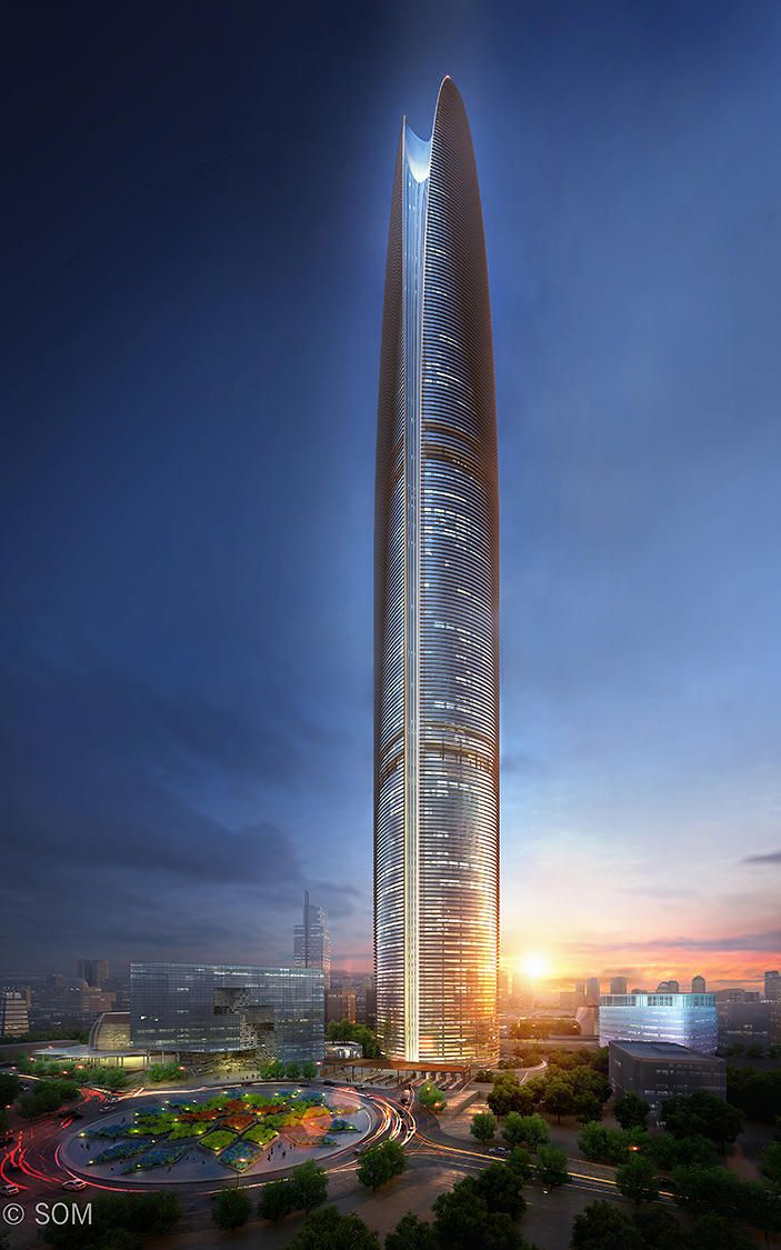 There Is A Giant Wind Farm Hiding Inside This Supertall Skyscraper #greenBuild #architecture #energy