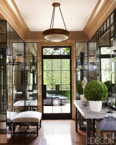 A Mirror-Paneled Entryway