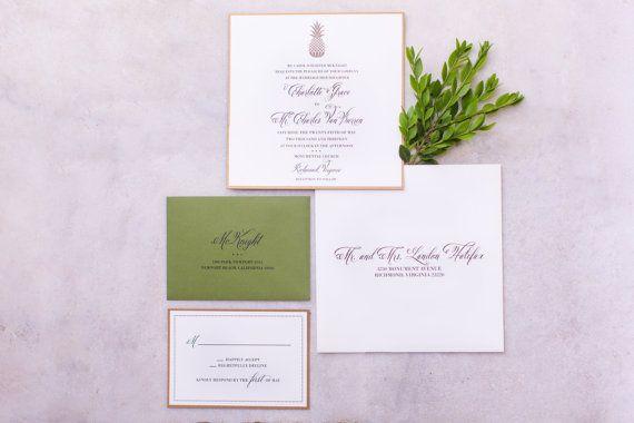 Custom Wedding Invitations 5x7  Southern by confettigrey on Etsy, $100.00