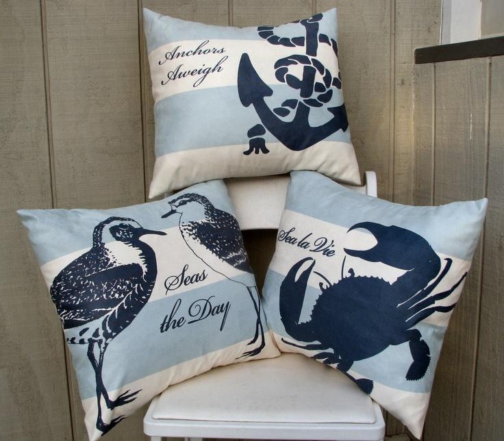 nautical pillow designs beach decor designs pinterest nautical design and nautical pillows. Black Bedroom Furniture Sets. Home Design Ideas