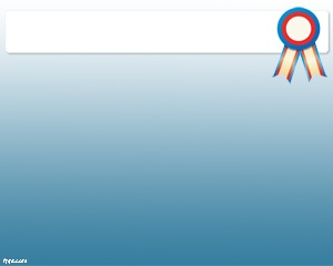 Prize PowerPoint template is a free prize template for PowerPoint with a blue background and a prize image on the title section