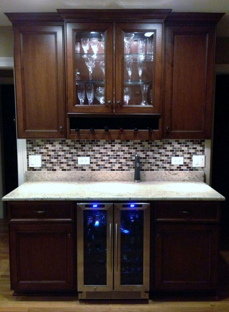 Lovely Custom Made Bar Cabinets