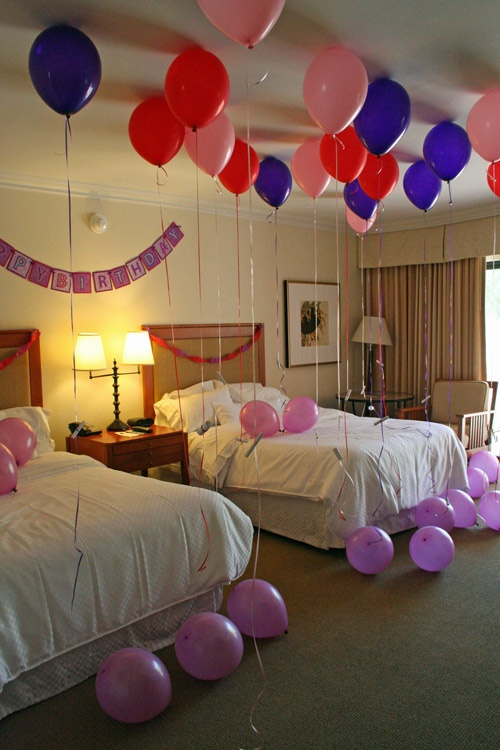 Helium balloons with notes attached