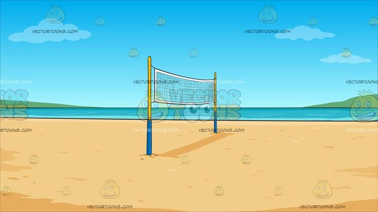 Beach Volleyball Background :  A beach volleyball net in the middle of the sandy shore overlooking a very nice and calm beach waters of the tropics  The post Beach Volleyball Background appeared first on VectorToons.com.
