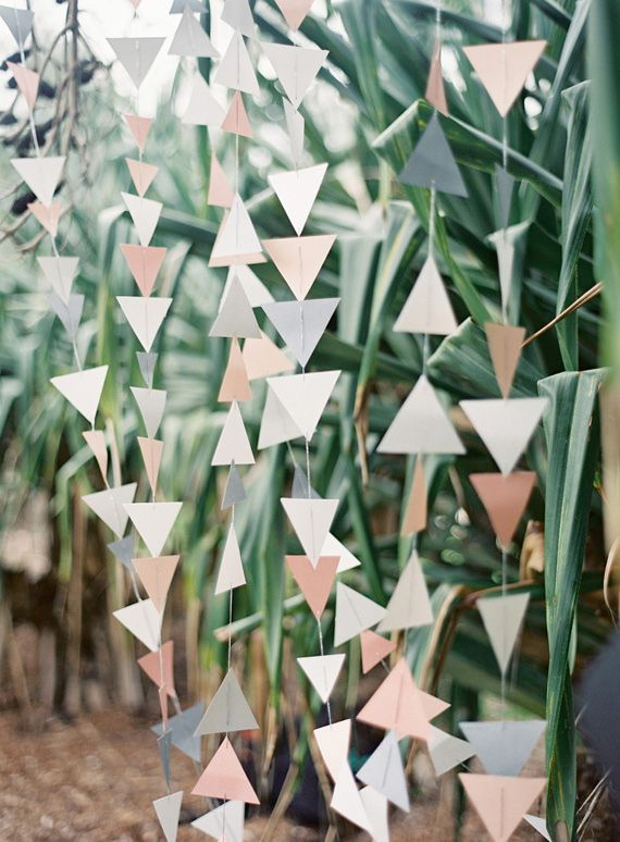 triangle bunting decor | photo by Byron Loves Fawn Photography | 100 Layer Cake