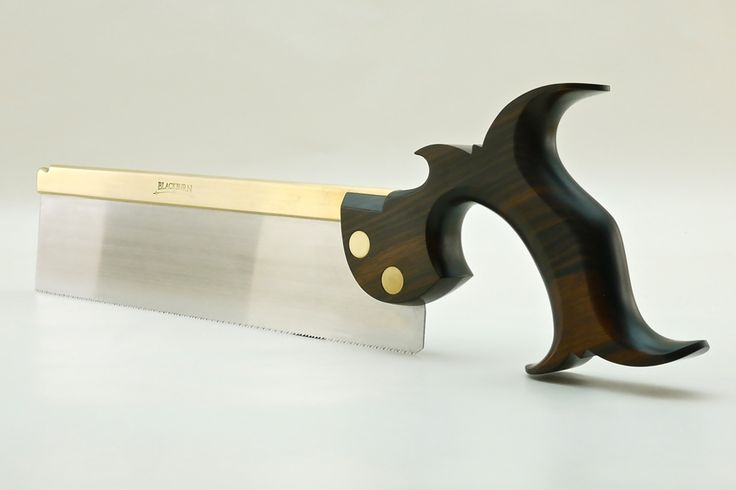 Front view of 10 inch dovetail saw in Macassar ebony