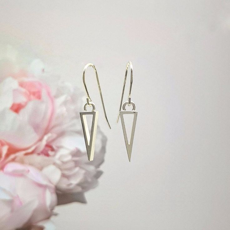 On Point Sterling Silver Drop Earrings by Anni Anni