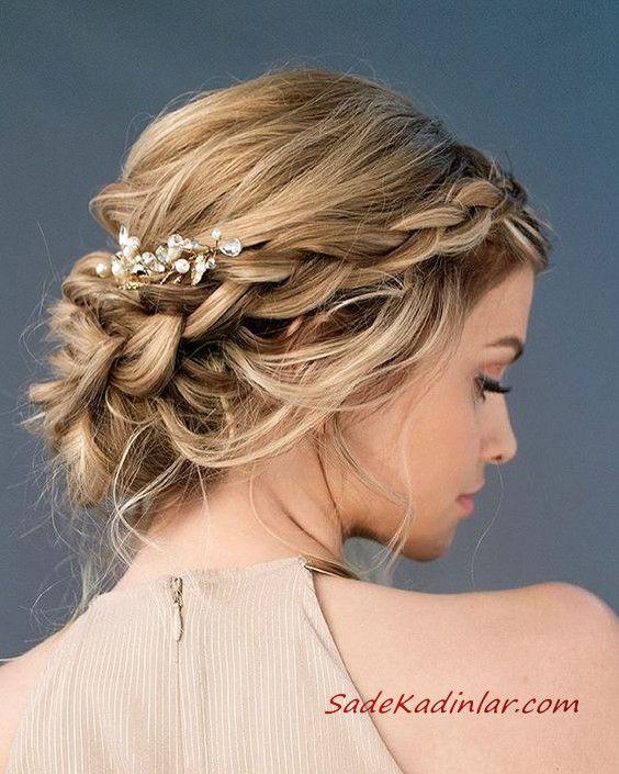 Abendkleid Brötchen Frisuren # Haare # Frisuren # Brötchen # Abendkleid #haar #ha   – Saç Modelleri