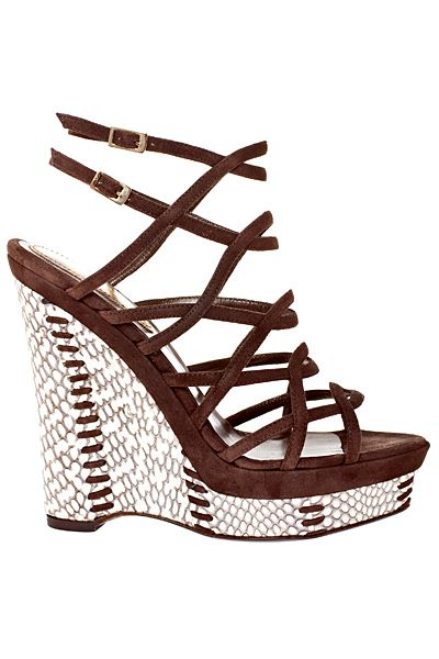 Roberto Cavalli 2011 Women's Accessories Spring-Summer Strappy Wedge Sandal #Wedges #Shoes