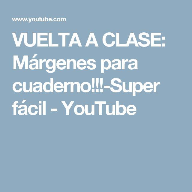 VUELTA A CLASE: Márgenes para cuaderno!!!-Super fácil - YouTube