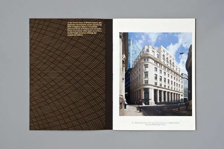 No.1 Bartholomew Lane is a development in the historic heart of the City, we devised a bespoke pattern and identity that was applied across brochure, website, interior graphics, window signage, flags and bespoke crafted wooden display system.