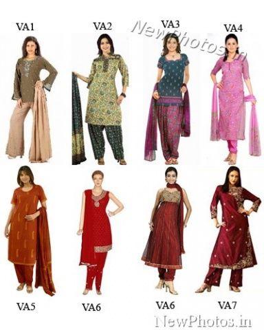 Salwar kameez sewing pattern: same Simplicity pattern 4249, Designer photo on how to use the pattern.