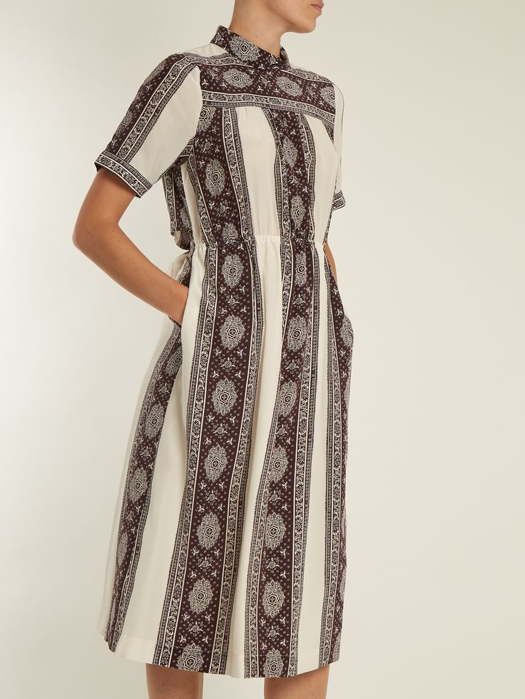 Click here to buy Sea Sonia striped-paisley print silk dress at MATCHESFASHION.COM
