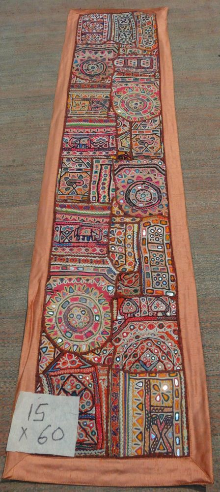 VINTAGE PATCHWORK ETHNIC ANTIQUE ART DECOR WALL HANGING TAPESTRY TABLE  RUNNER 1