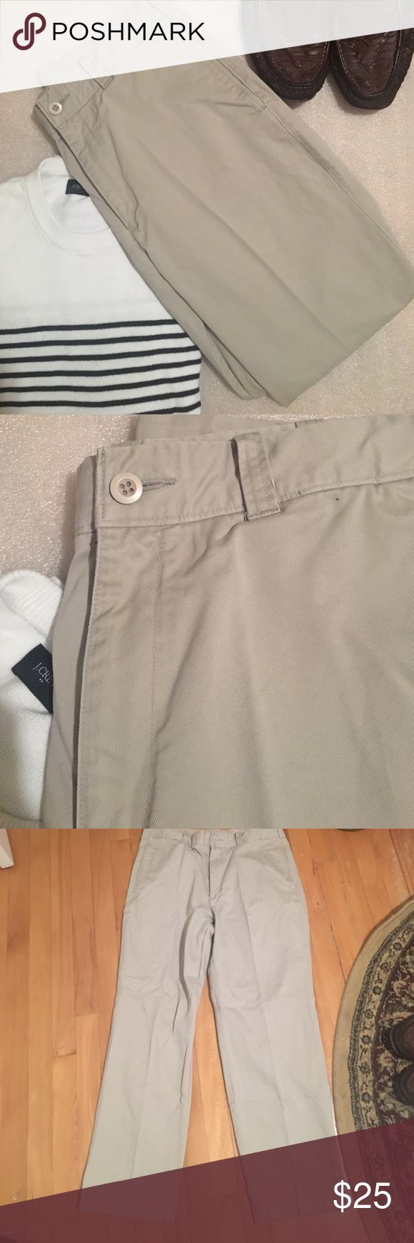 """🆕LISTING: SAVANE KHAKIS Who doesn't need a classic pair of khakis! These are the perfect for any gentleman! They fall on the more taupe color of the khaki family! There's a MINOR stain on the bottom back leg that can most likely be removed with a little TLC- but hey that means an even more discounted price for you! The inseam is 29""""! Savane Pants Chinos & Khakis"""