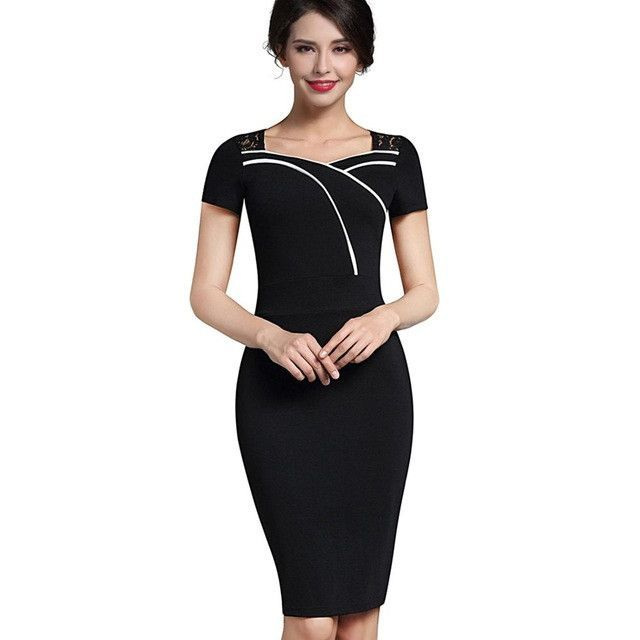 Sweat-heart Neck Body Con Dress Shorts, Pencil dresses and Lace