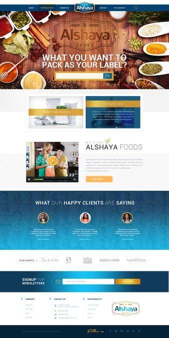 Alshaya Foods Web Design Contest by Mithum