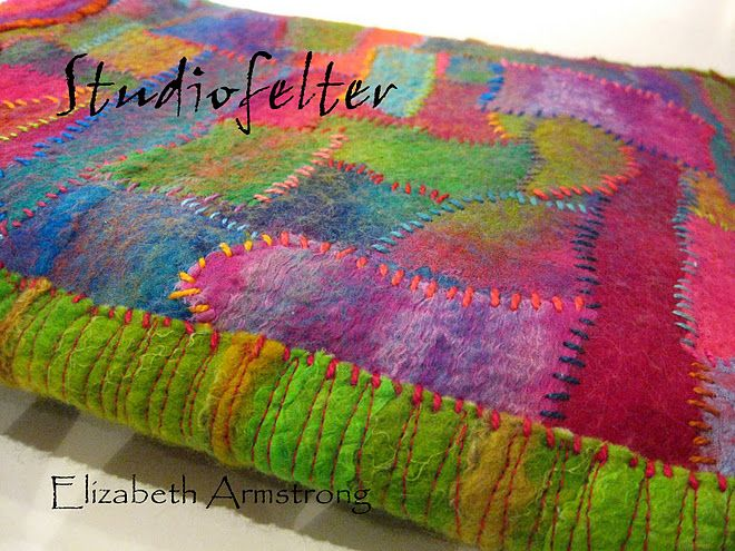 Felting Blog by Elizabeth Armstrong--her use of colour is beautiful!!