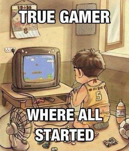 That's true! I remember the days of spending hours on Super Mario, empty sweet packets all around me XD