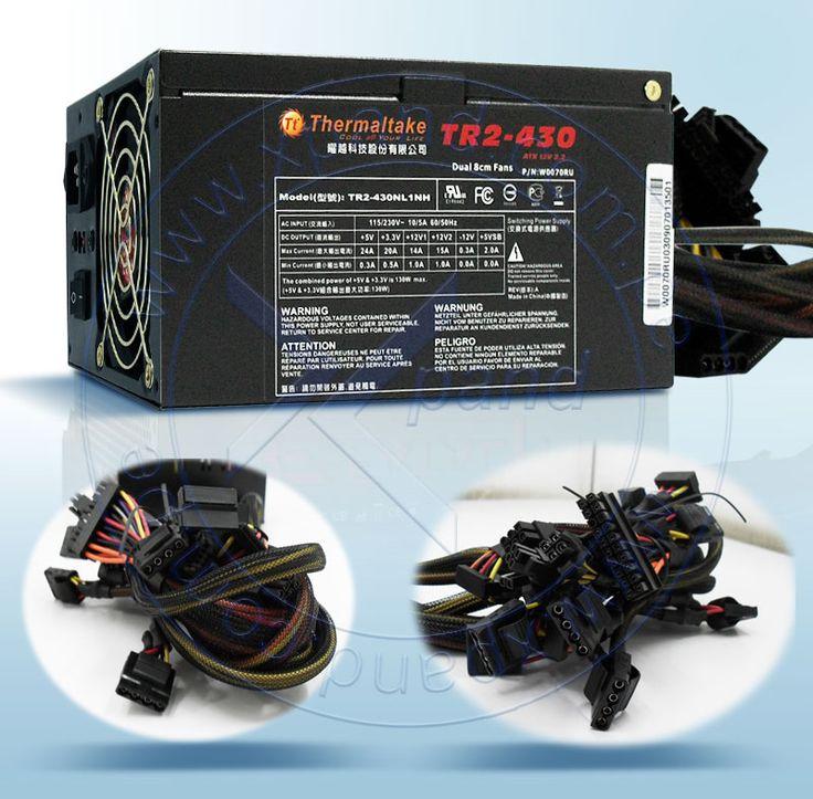 FUENTE TT TR2 430W ATX+DUALFAN  Fuente de poder Thermaltake TR2 (W0070RU) 430 Watts, ATX 12V, presentación en caja. CARACTERISTICAS : MARCA THERMALTAKE MODELO TR2 NÚMERO DE PARTE W0070RU FACTOR DE FORMA ATX POTENCIA (WATTS) 430 WATTS VOLTAJE DE ENTRADA 110/220 VAC (CON SWITCH MANUAL) CONECTORES ATX 20PINES + 4PINES: 1 PCI-E 6-PINES: 1 SATA POWER: 2 4-PINES MOLEX PARA PERIFERICOS: 6 FLOPPY: 2 4+4PIN +12V POWER CONNECTOR