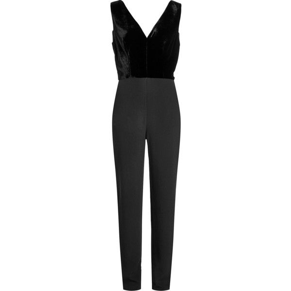 Elie Saab Jumpsuit (2,455 CAD) ❤ liked on Polyvore featuring jumpsuits, black, special occasion jumpsuits, elie saab, elie saab jumpsuit, holiday jumpsuits and jump suit