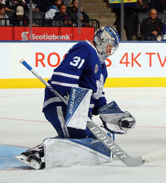 Frederik Andersen #31 of the Toronto Maple Leafs skates against the Philadelphia Flyers at the Air Canada Centre on November 11, 2016 in Toronto, Canada. The Maple Leafs defeated the Flyers 6-3. (Nov. 10, 2016 - Source: Bruce Bennett/Getty Images North America)