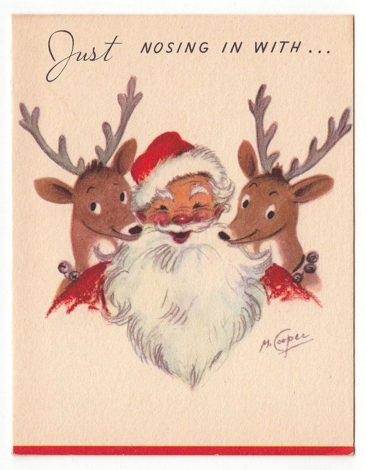 4141 Best Vintage Christmas Greeting Cards Four Images On