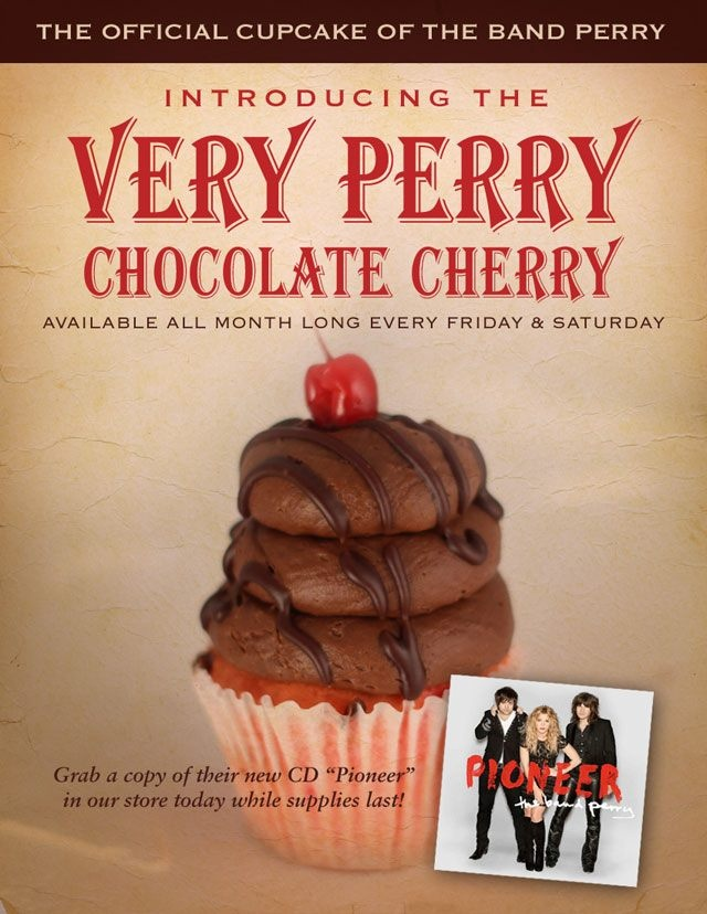 The band perry, The band and Chocolate cherry cupcakes on Pinterest