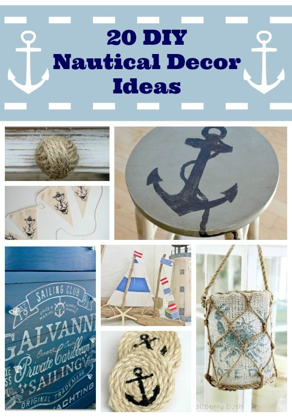 Best 25 nautical decor ideas ideas on pinterest diy for Anchor decoration