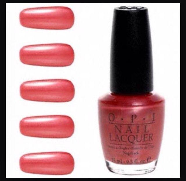 Discontinued Opi Nail Polish Colors: OPI Hong Kong Sunrise Coral-Orange PINK Nail Polish Full